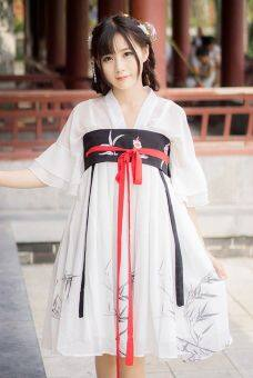 Harga Chinese Tradition Lolita Dress Ruqun Hanfu Vintage Dress (White)