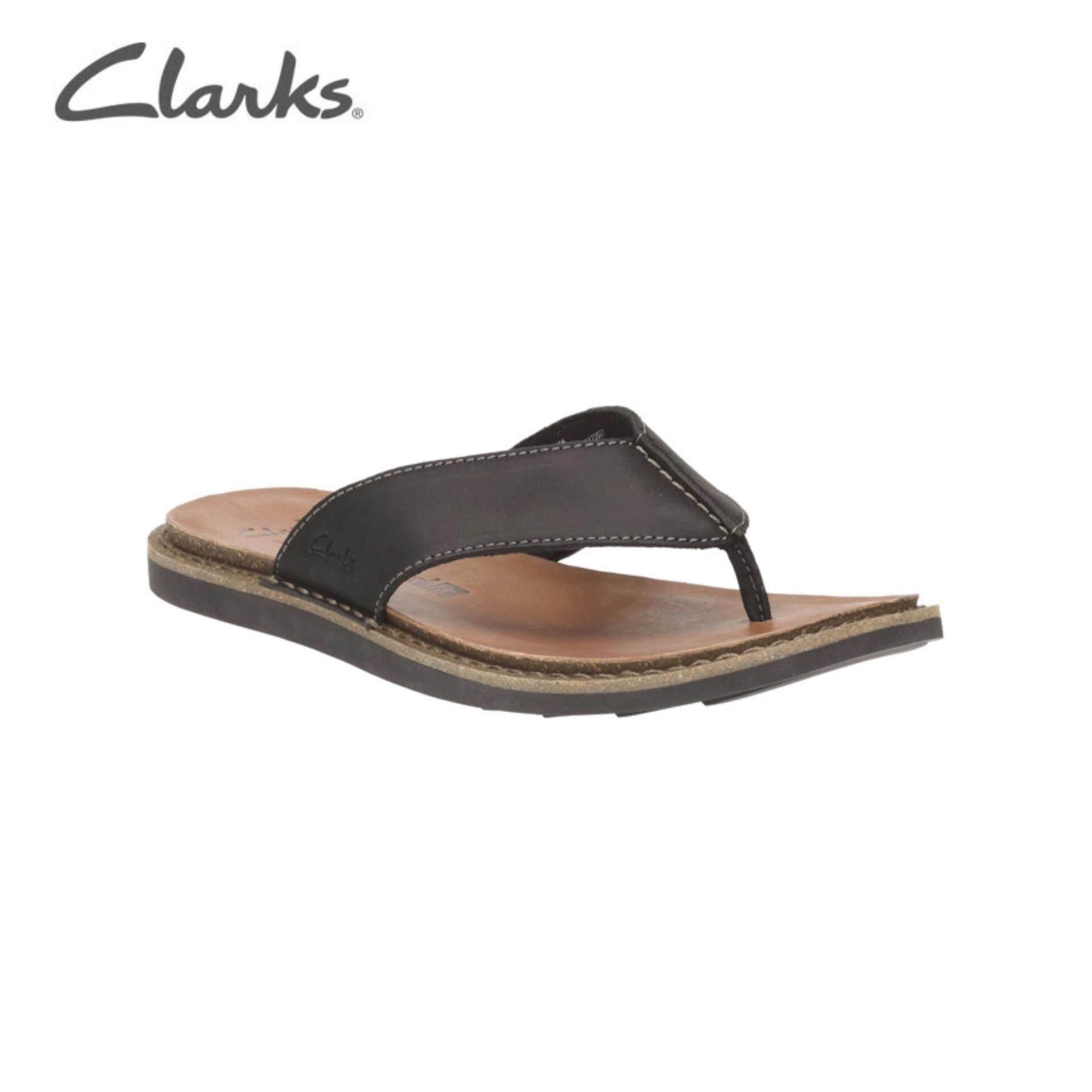 7fc3db110fcc Clarks Lynton Post Mens Casual Sandals (Black Leather)