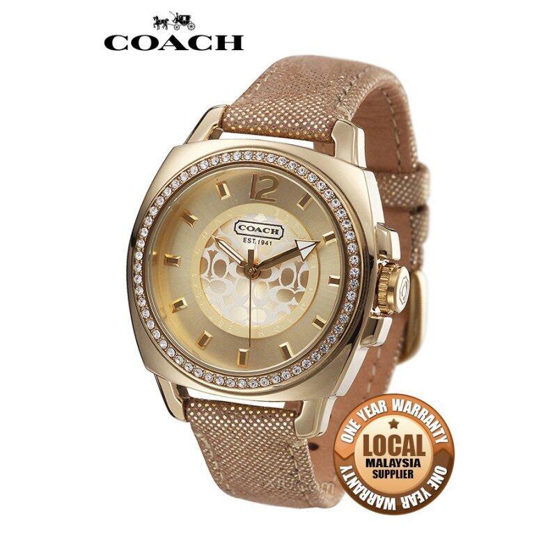 Coach Boyfriend Trendy Shiny Watch Gold 14501363 Malaysia