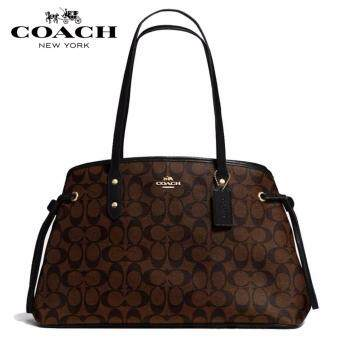 COACH F57842 Drawstring Carryall Signature Bag [Brown]