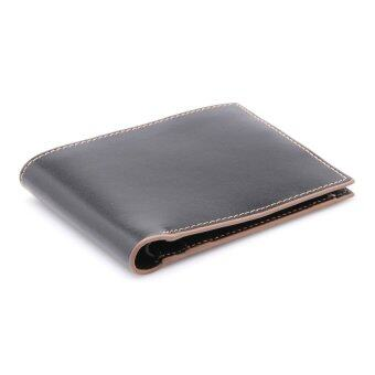 COMO Stitched Leather Wallet Coffee - 4