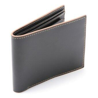 Harga COMO Stitched Leather Wallet Coffee