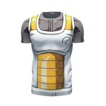 Harga Cool Cool Men Summer 3D Dragon Ball Series Casual Short SleeveT-Shirt(Yellow)