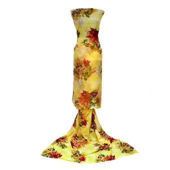 Cotton & Silk Fabric Kain Ela Meter Baju Kurung Chiffon Matching Valentino Crepe 503d