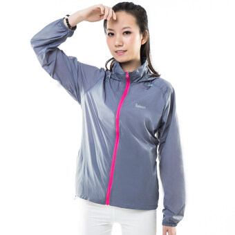Couple's outdoor breathable skin coat sun protection clothing (Female models-gray) (Female models-gray)