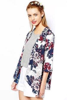 Cyber Chiffon Kimono Cardigan Floral Print (Multicolor) | Lazada ...