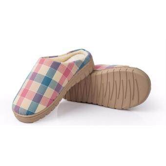 Harga Darden Unisex Indoor Cotton Slippers Home Comfort Shoes Living RoomBedroom Soft Cotton Sandals Adult Footwear (Pink)