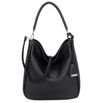 Harga DAVIDJONES Women Synthetic Leather Shoulder Bag Hobo Bag