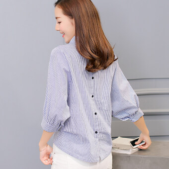 Harga Diana Korean-style color female striped shirt bottoming