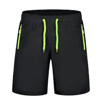 EcoSport Men Sports Gym Quick Dry Short Pants Beach Surfing Sweatpants (Green)