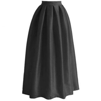 Era Maira multi panel long skirt Muslimah (Black)
