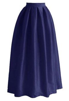 Era Maira multi panel long skirt Muslimah (Navy Blue)