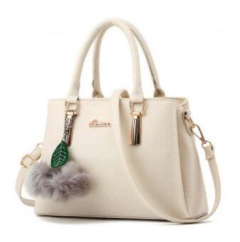 European Fashion Ladies Casual Shoulder Messenger Bag | Tote Bag |Backpack | Set Bag Collection - White