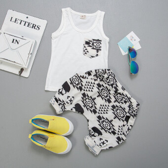 [Every day special] Boys summer suit vest in small children's Topsummer shorts baby T-shirt two pieces