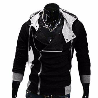 Harga Fancyqube explosion of Assassin s Creed sweater oblique zipperhooded jacket Black