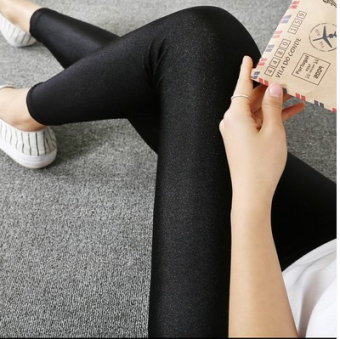 Harga Fat mm Slimming effect 200 of outer wear bottoming pants lengthpants (Black nine points flat) (Black nine points flat)