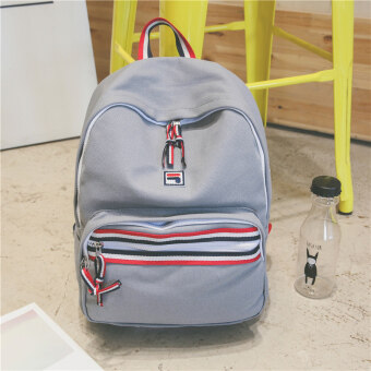 Female day Korean-style High School Students New style tide canvas backpack