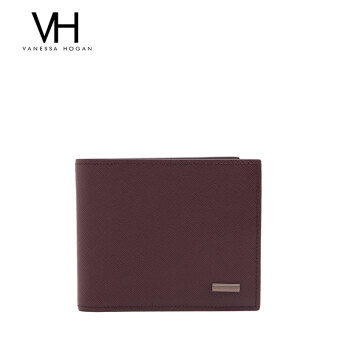 First layer of leather photo bit wallet men's bag (Wine red (02327))