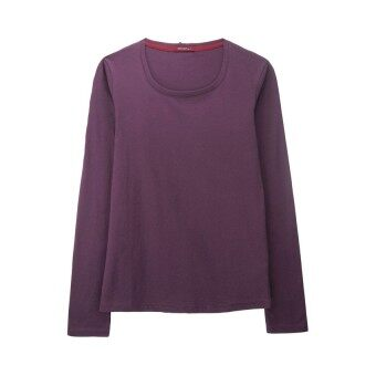 F.O.S NAVY & NAVY WOMEN'S BASIC PURPLE LONG SLEEVED TEE