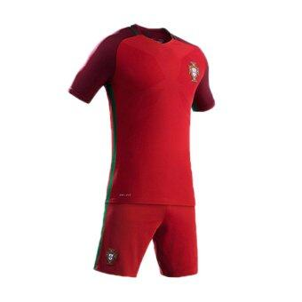 Harga France 2016 European Cup Soccer Clothing Suits Portugal Team Jersey(Red).