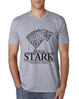 Harga Funny Game of Thrones T-Shirt 2017 House Stark Winter Is ComingPrint Tee Shirt Homme Summer Harajuku Top Crossfit (Grey)