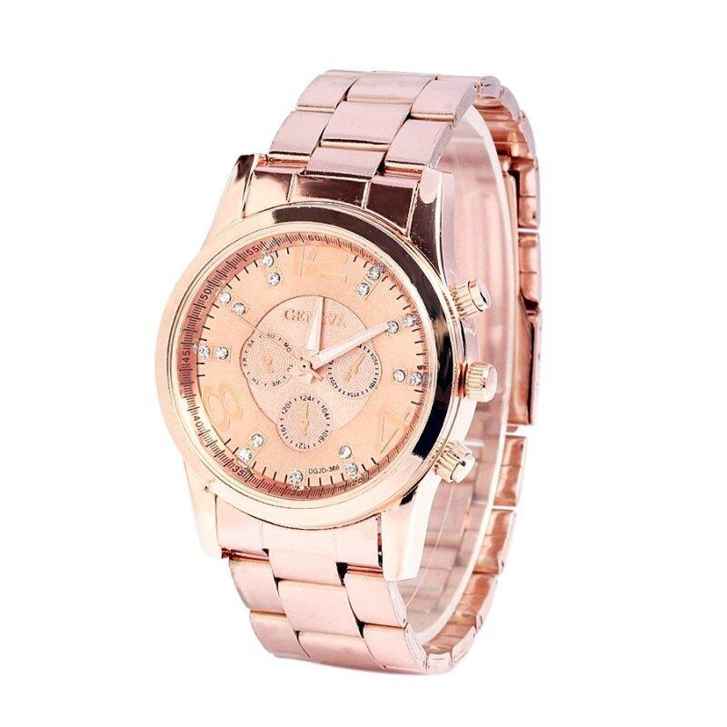 Geneva Chronograph Elegant 178 Watch Rose Gold +Free Watch Box Malaysia