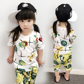 Girls male baby cotton short-sleeved vest bottoming shirt T-shirt