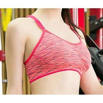 GX Womens Lingerie Brassiere Fashion Racerback Fitness Sports BraForyoga Running Gym - Red