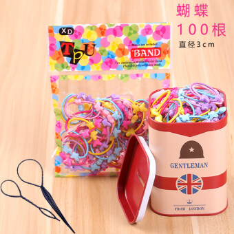 Harga Hair children's iron boxed hairband (Butterfly + british red) (Butterfly + british red)