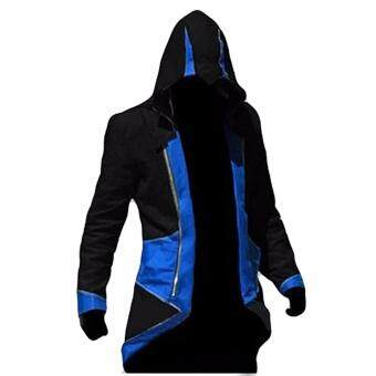 Harga Hequ Assassins s Creed 3 Anime Game Connor Red Black 7 Color ToChoose Coat Cos Cosplay Blue(Int:XXL)