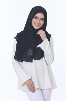 Hijab Fesyen Chenta Instant Shawl Black