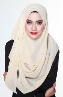Hijab Fesyen Delaila Instant Shawl 2 Loops Cream