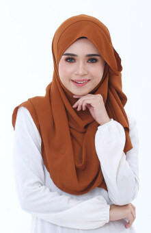 Hijab Fesyen Mumtaz Long Shawl Chocolate