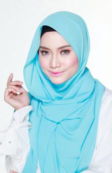 Hijab Fesyen Mumtaz Long Shawl Lake Blue