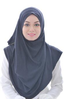 Hijab Fesyen Qaseh Instant Shawl 2 Loops Black