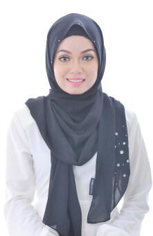 Hijab Fesyen Rindu Long Shawl Black