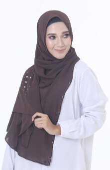 Hijab Fesyen Rindu Long Shawl Brown