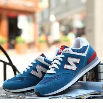 Hot Sale 2017 Spring Autumn Running Shoes for Men Breathable LowTop Sport Shoes(blue) - 3