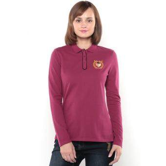 Harga Polo Haus - Curved End Plackets Polo Shirt (Maroon)
