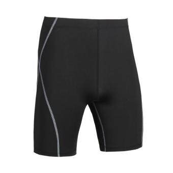 Harga Men's Compression Shorts Tights Base Layer Sports Running Outdoor Tights Sports Gym Shorts Gray