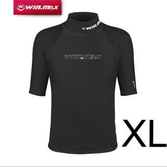 Harga WINMAX Short Sleeves Surf Clothing Diving Suits Shirt Lycra Rashguard