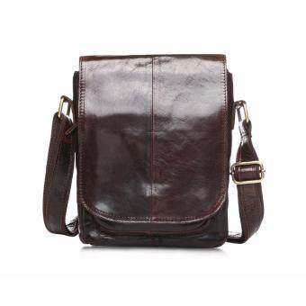 Harga New Arrival genuine leather man bag cowhide leather crossbody bags single shoulder bag for men coffee