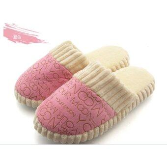 Harga Pink Colour - Unisex Indoor Cotton Slippers Home Comfort Shoes Living Room Bedroom Soft Cotton Sandals