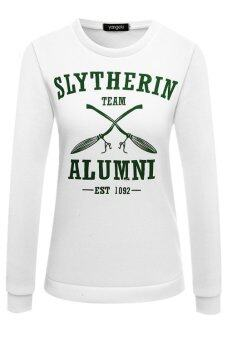 Harga 2016 New Style Slytherin Quidditch Harry Potter Shirt Sweatshirt Shirt Size S M L XL