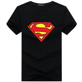 Harga Short Sleeves T-Shirt - Superman Logo - Black