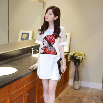 Harga VICI The new trend of the new Korean slim short sleeved dress