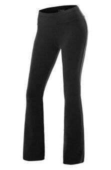 Harga Bigood Womens Plain Palazzo Wide Leg Ladies Trousers Sport Yoga Pants Black(Int:XXL)(OVERSEAS)