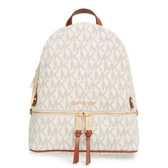 Harga Michael Kors Rhea' Stud Leather Backpack (Vanila)
