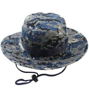 Harga New G: Blue Camouflage Bucket hat, Bob hip hop Chapeau hats for men, Fishing Caza summer camo fisherman