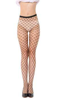 Harga Bigood Womens Transparent Mesh Fishnet Net Pantyhose Stockings Tights Big Net(Int: One size)(OVERSEAS)